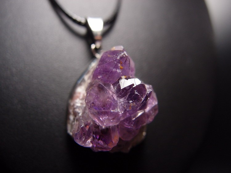 Raw amethyst pendant youchakra raw amethyst pendant mozeypictures Images